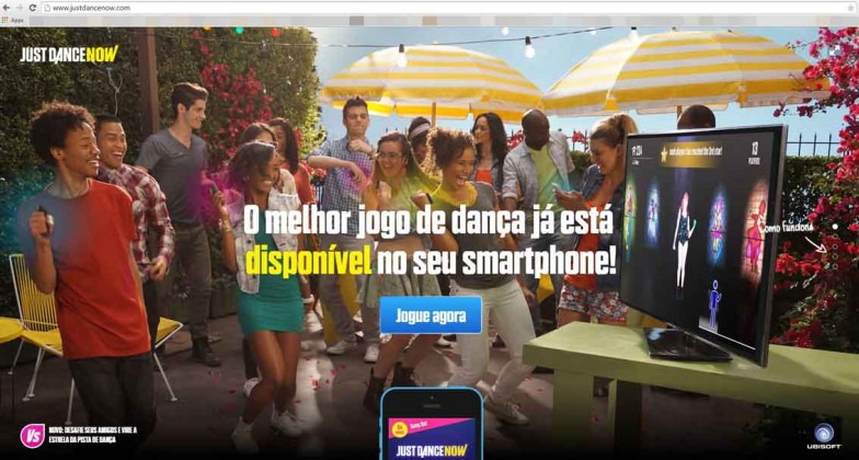 Homepage do Just Dance Now