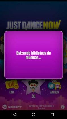 Baixando biblioteca de músicas no Just Dance Now